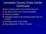 lancaster county crisis center continued