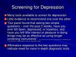 screening for depression19