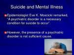 suicide and mental illness