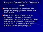 surgeon general s call to action 1999