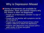 why is depression missed