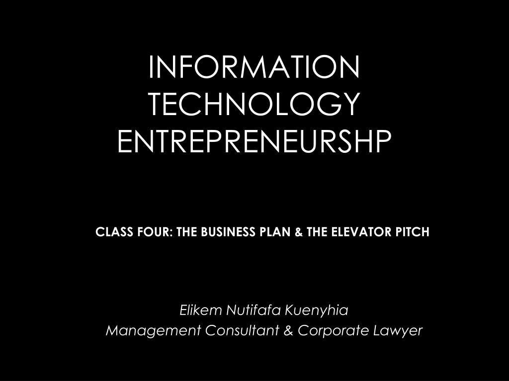 information technology entrepreneurshp