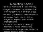 marketing sales