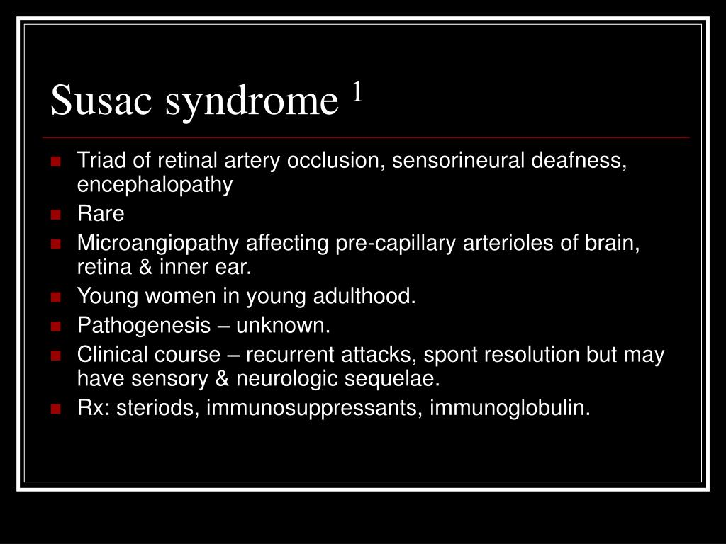 Susac syndrome