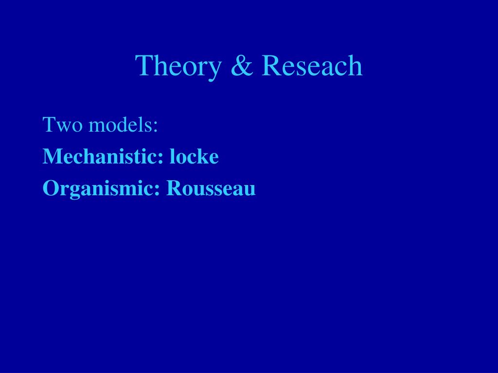 Theory & Reseach