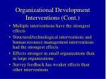 organizational development interventions cont53