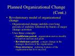 planned organizational change cont25