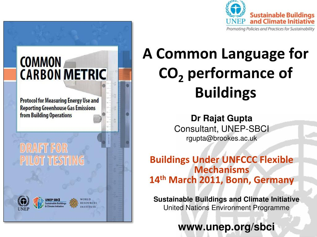a common language for co 2 performance of buildings