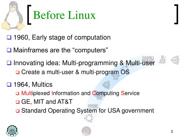 Before linux