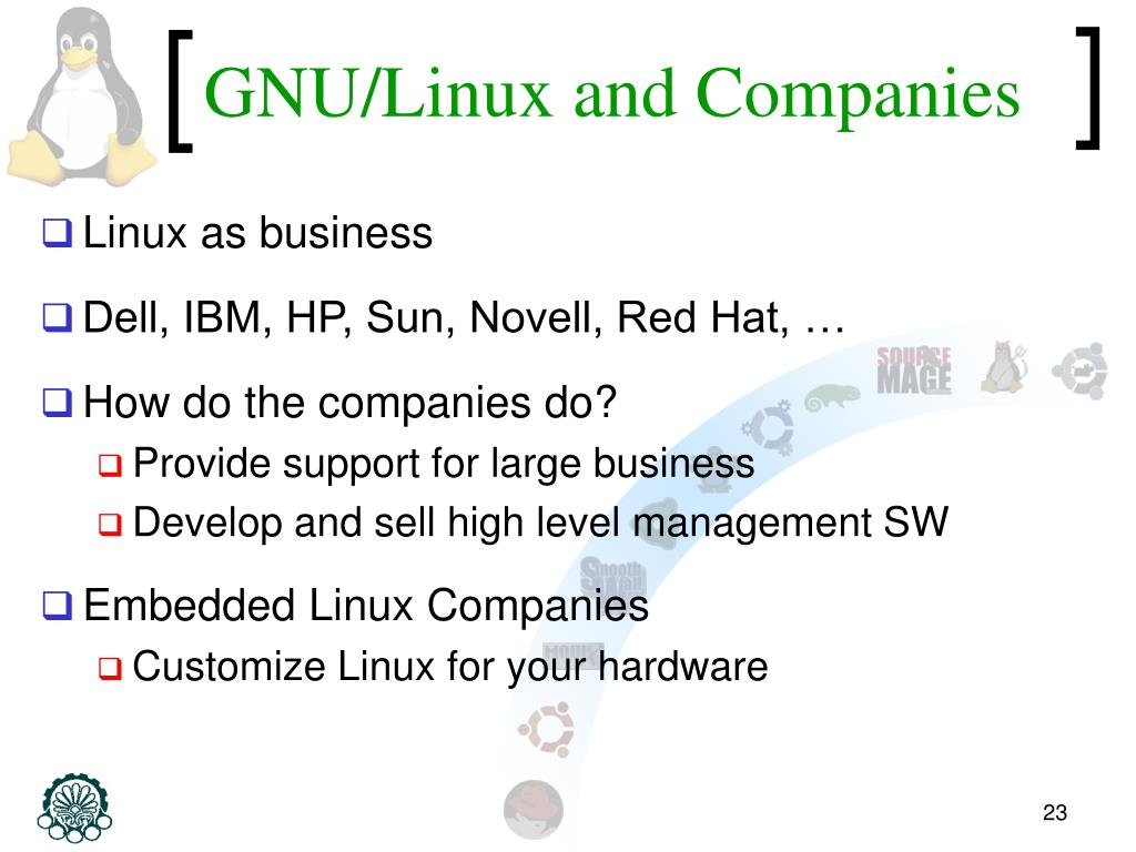 GNU/Linux and Companies