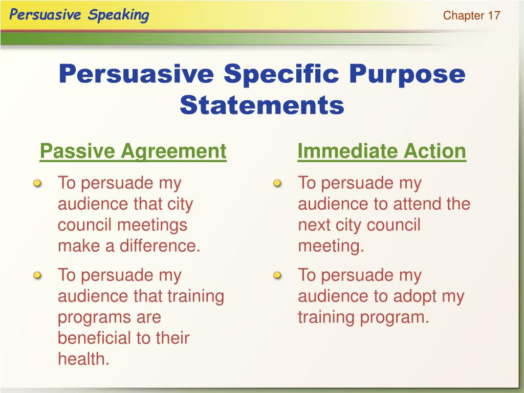 Passive Agreement