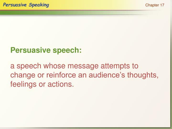 Persuasive speech: