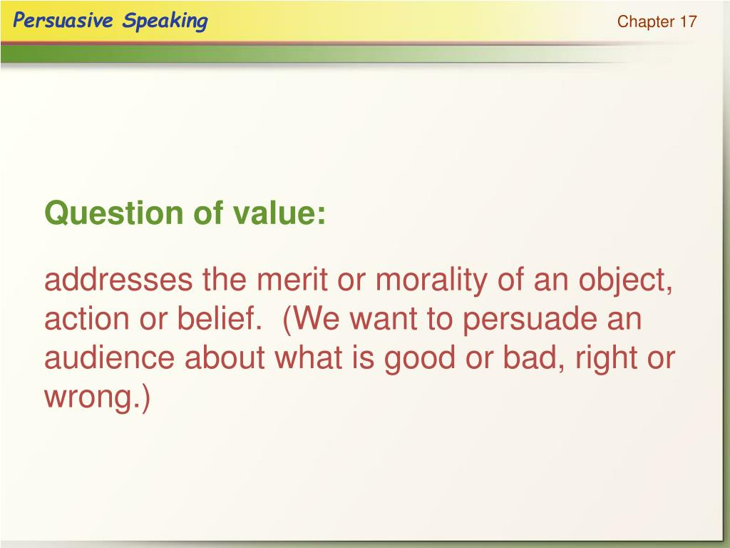 Question of value: