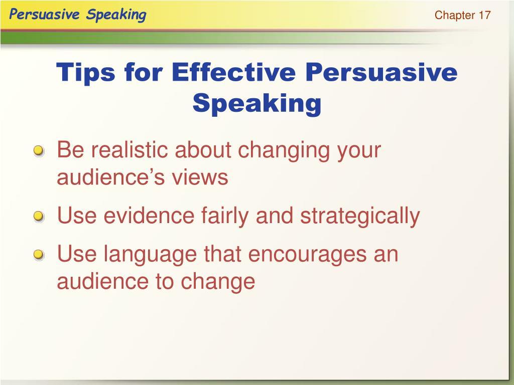 Tips for Effective Persuasive Speaking