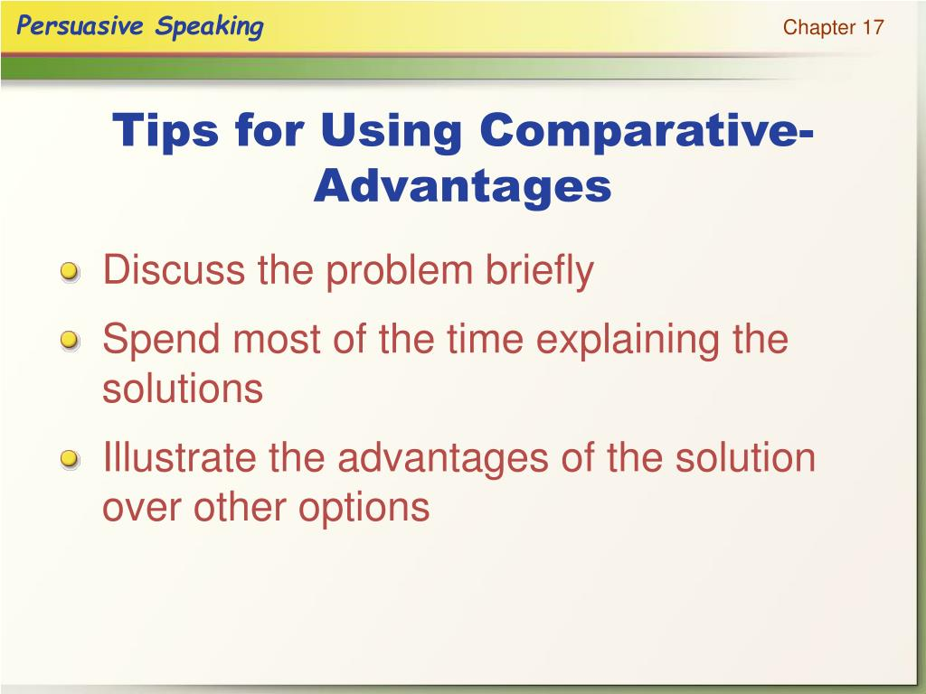 Tips for Using Comparative-Advantages