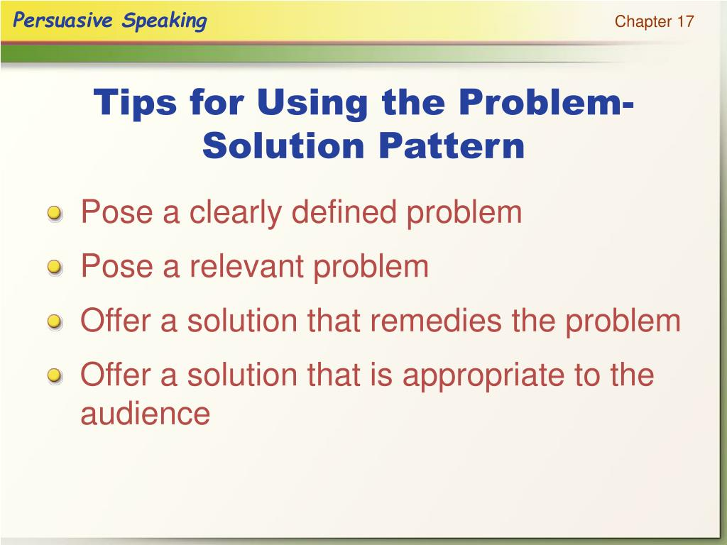 Tips for Using the Problem-Solution Pattern