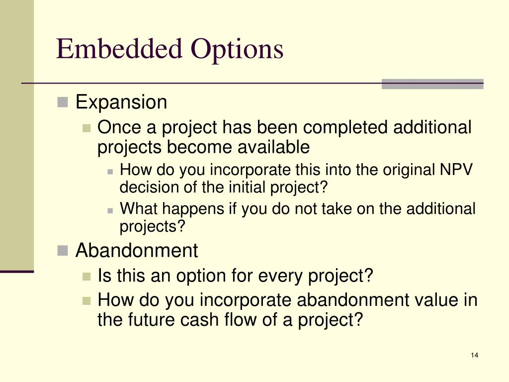 Embedded Options