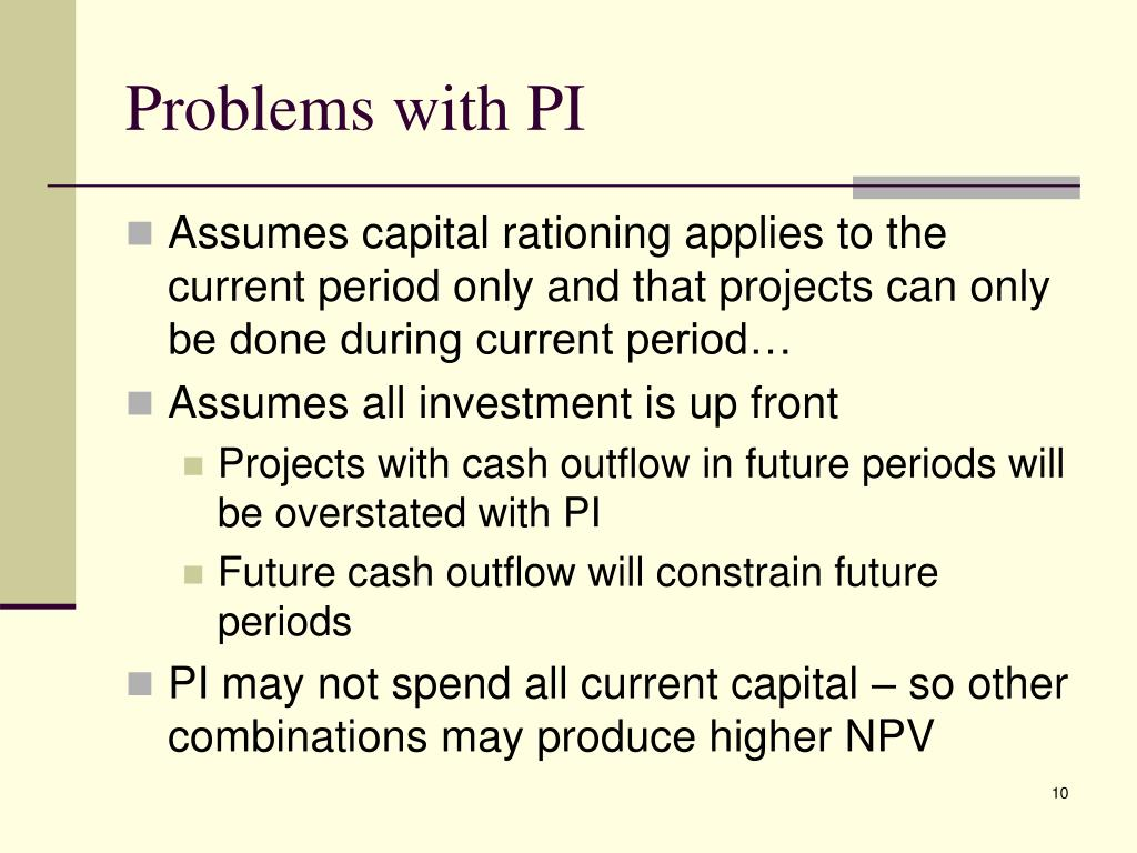 Problems with PI