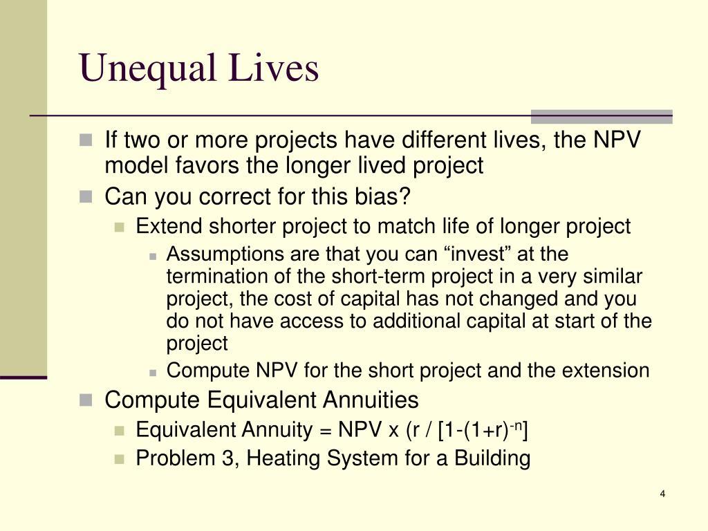 Unequal Lives