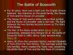 the battle of bosworth