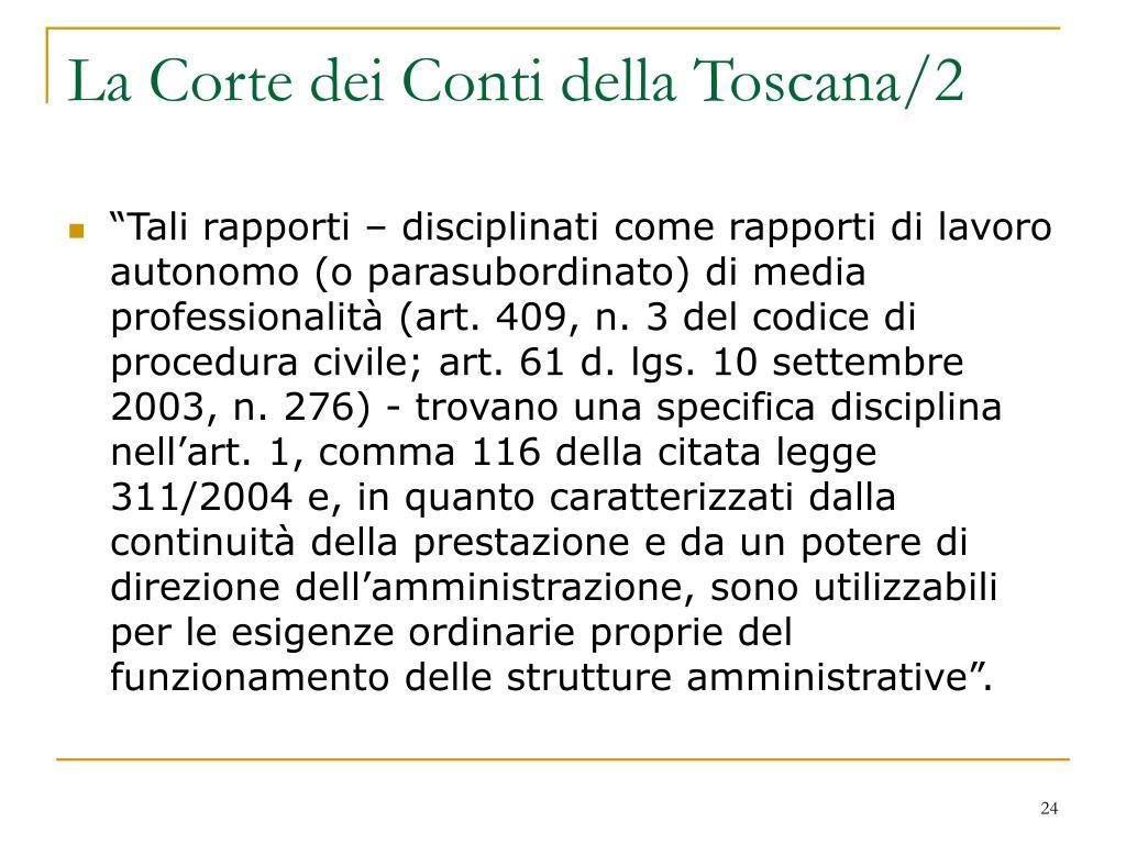 La Corte dei Conti della Toscana/2