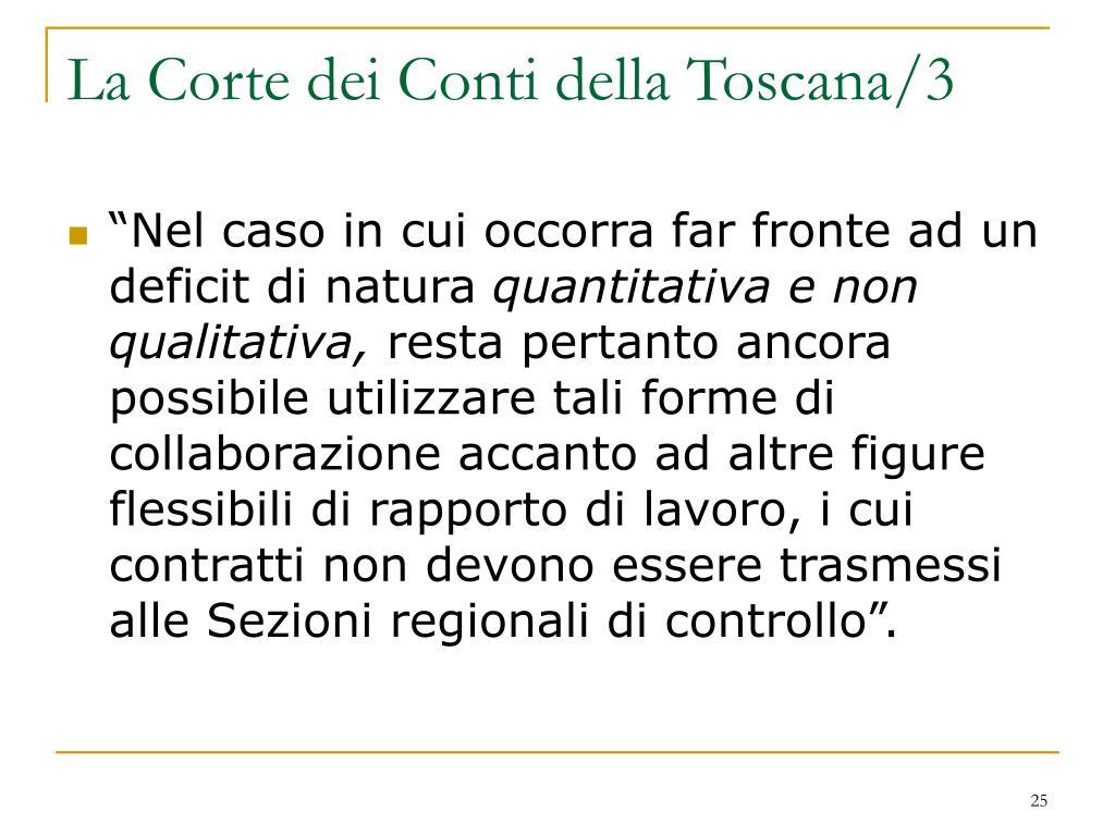 La Corte dei Conti della Toscana/3