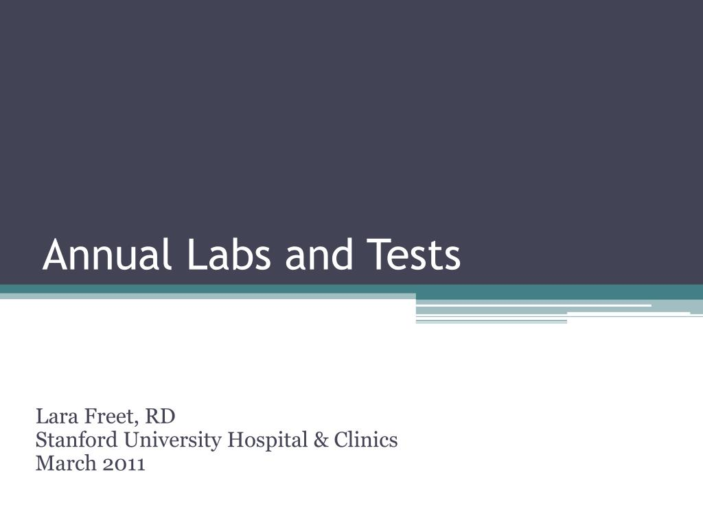 Annual Labs and Tests