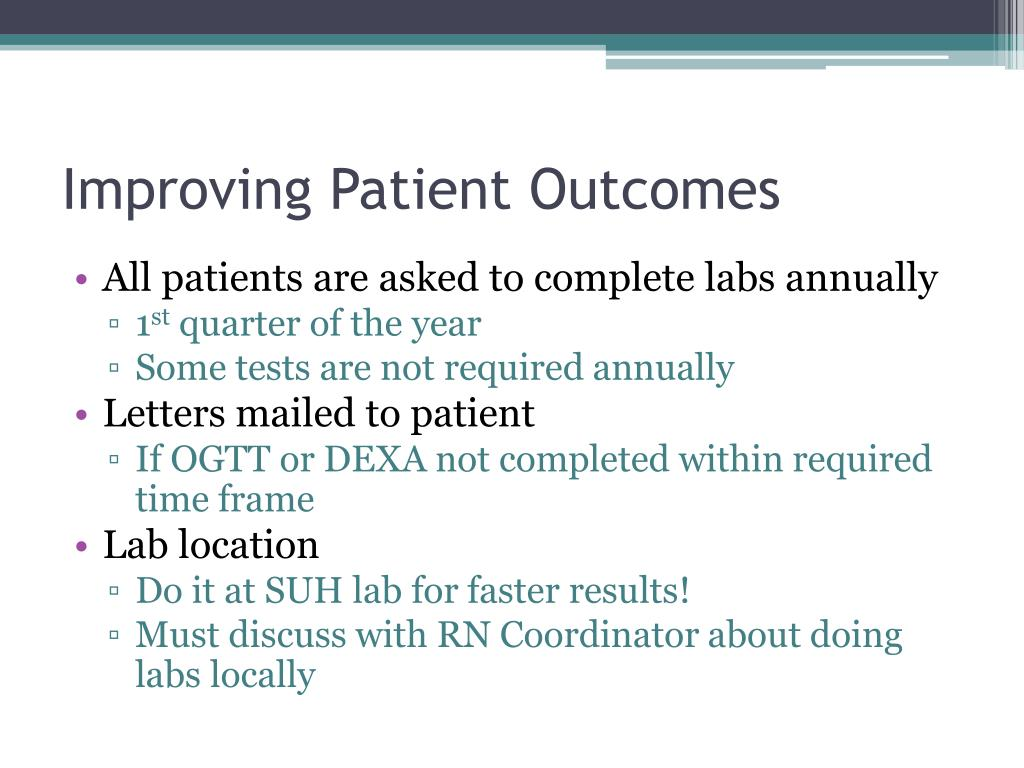 Improving Patient Outcomes