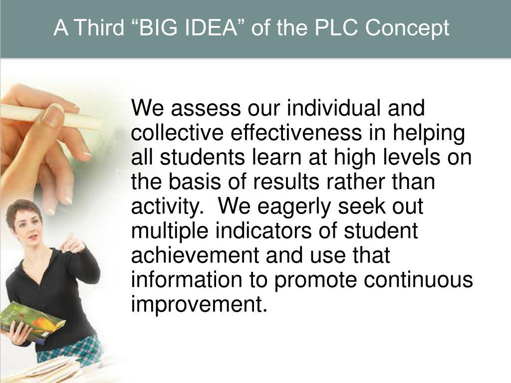 """A Third """"BIG IDEA"""" of the PLC Concept"""