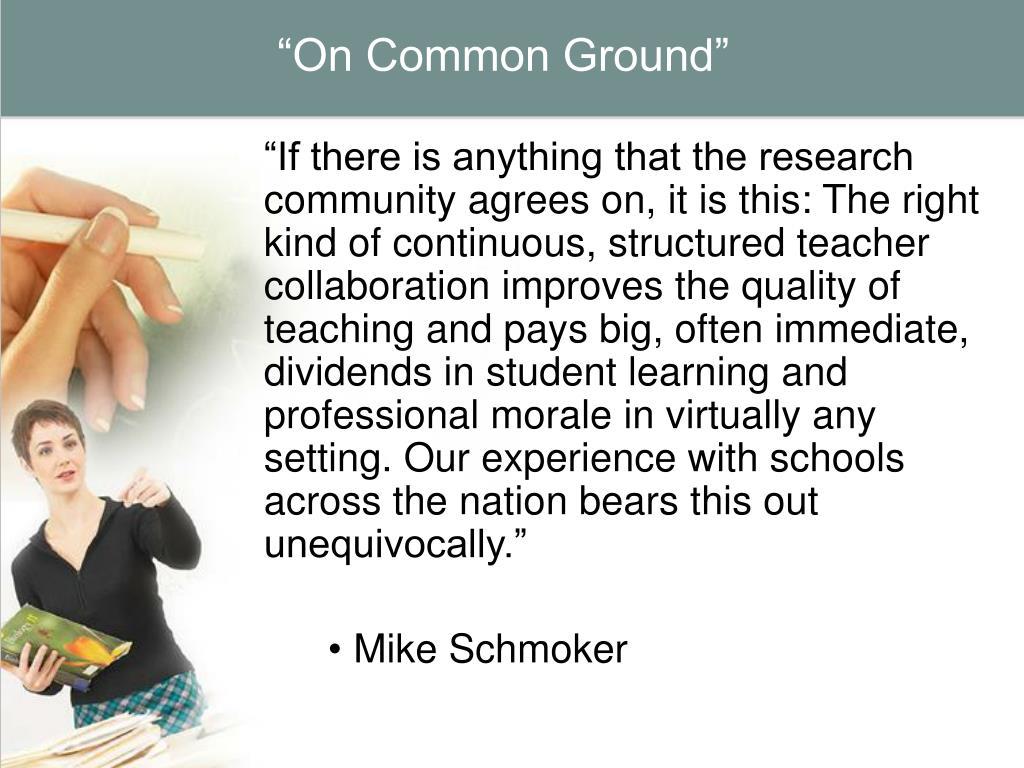 """""""On Common Ground"""""""