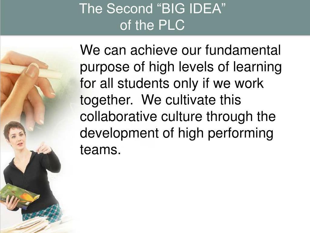 """The Second """"BIG IDEA"""""""