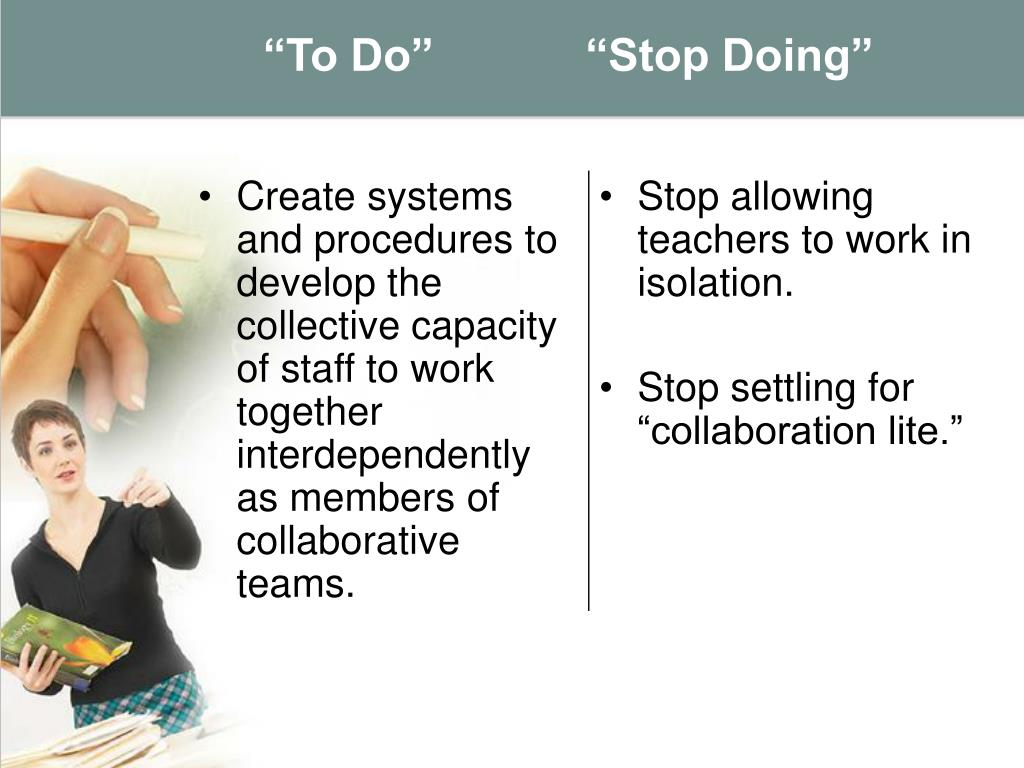 """""""To Do""""            """"Stop Doing"""""""