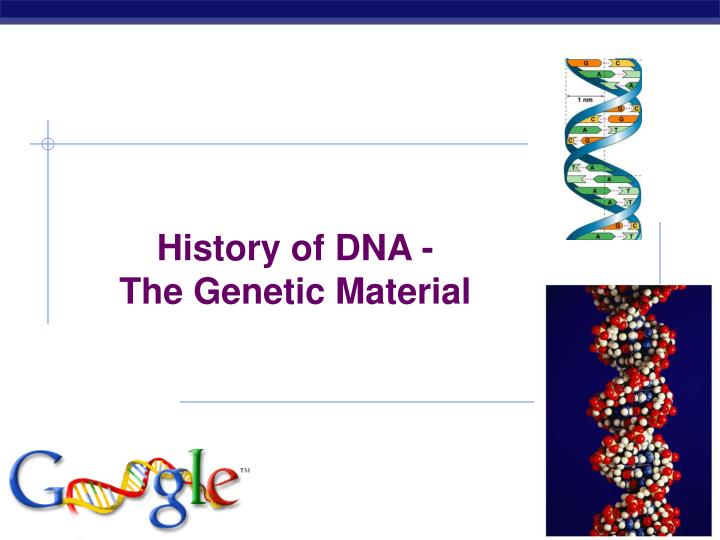 History of DNA -