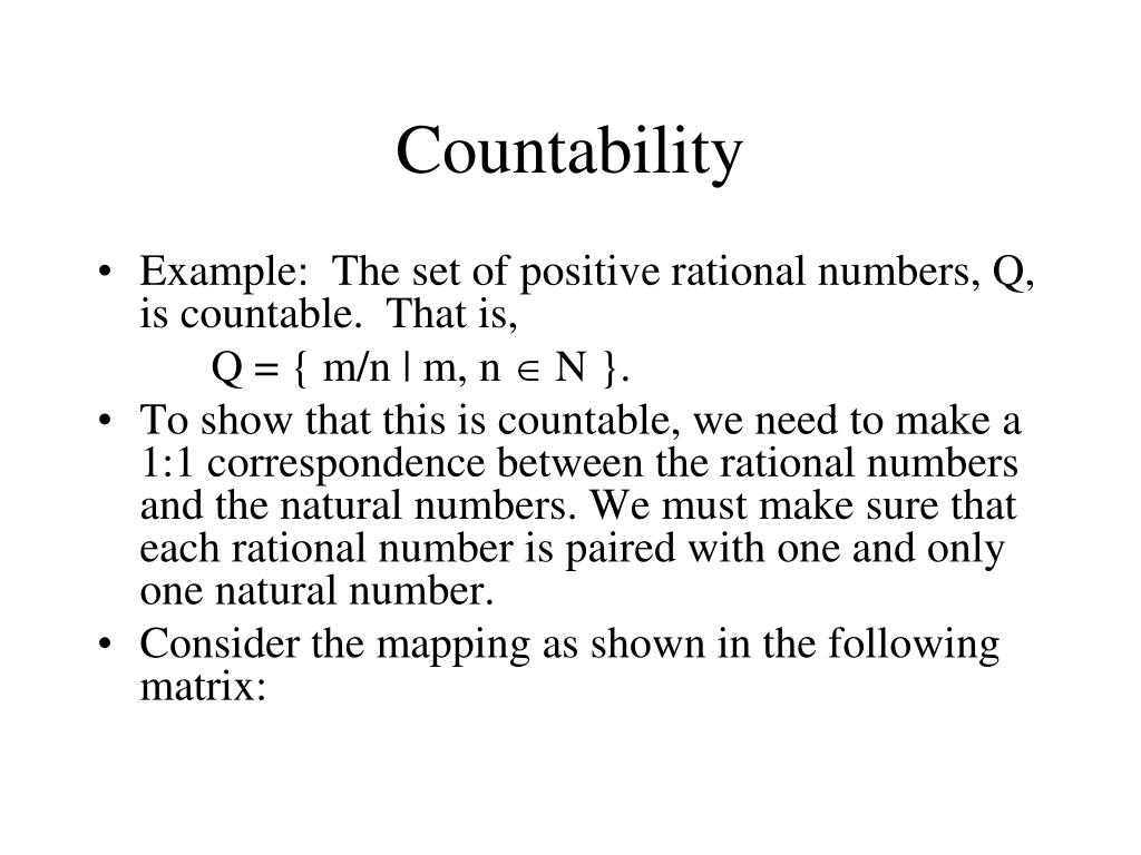 Countability
