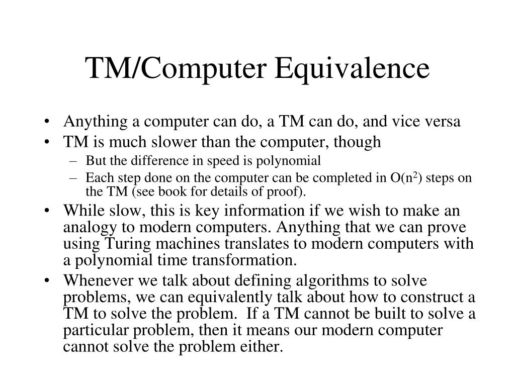 TM/Computer Equivalence