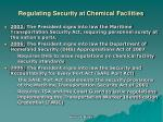 regulating security at chemical facilities