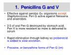 penicillins g and v