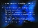 architectural problems part 1