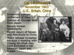 cairo conference november 1943 u s britain china