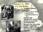 casablanca january 14 1943 u s and britain
