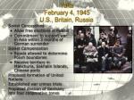 yalta february 4 1945 u s britain russia