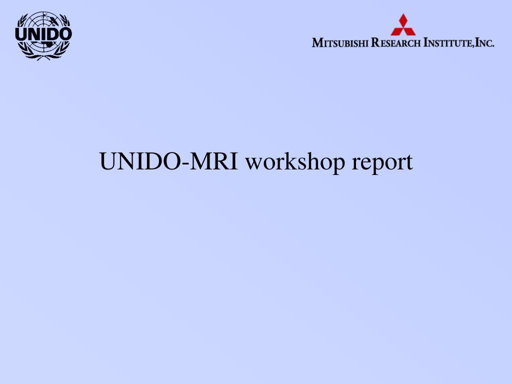 unido mri workshop report l.