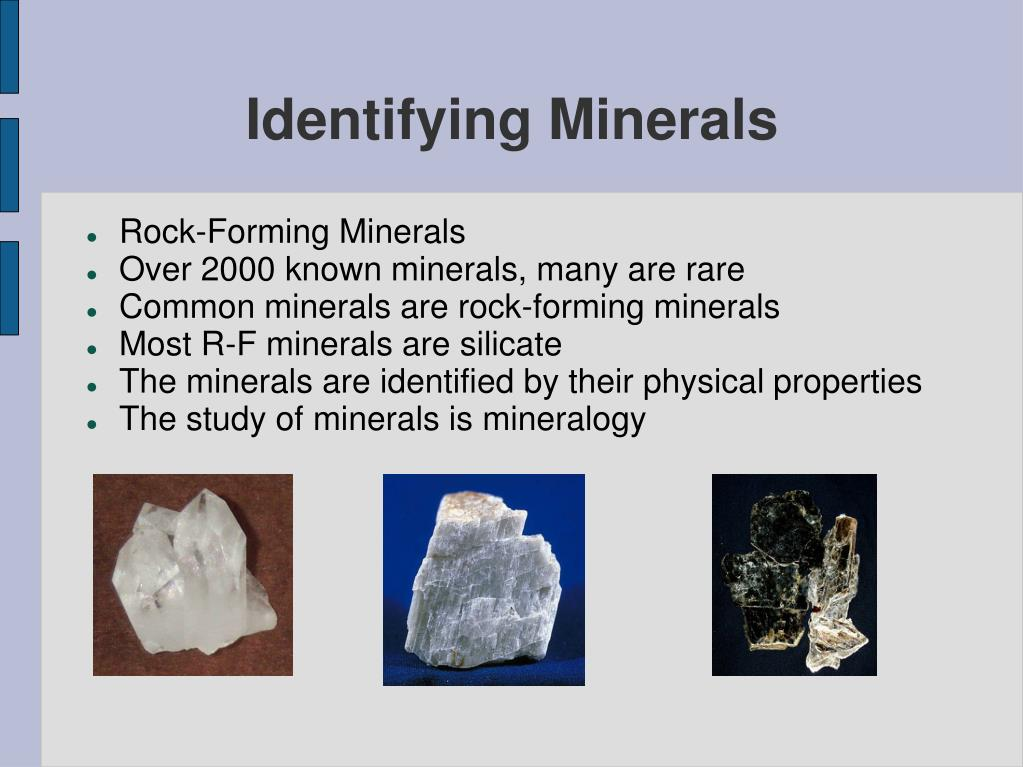 identifying minerals l.
