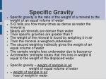 specific gravity