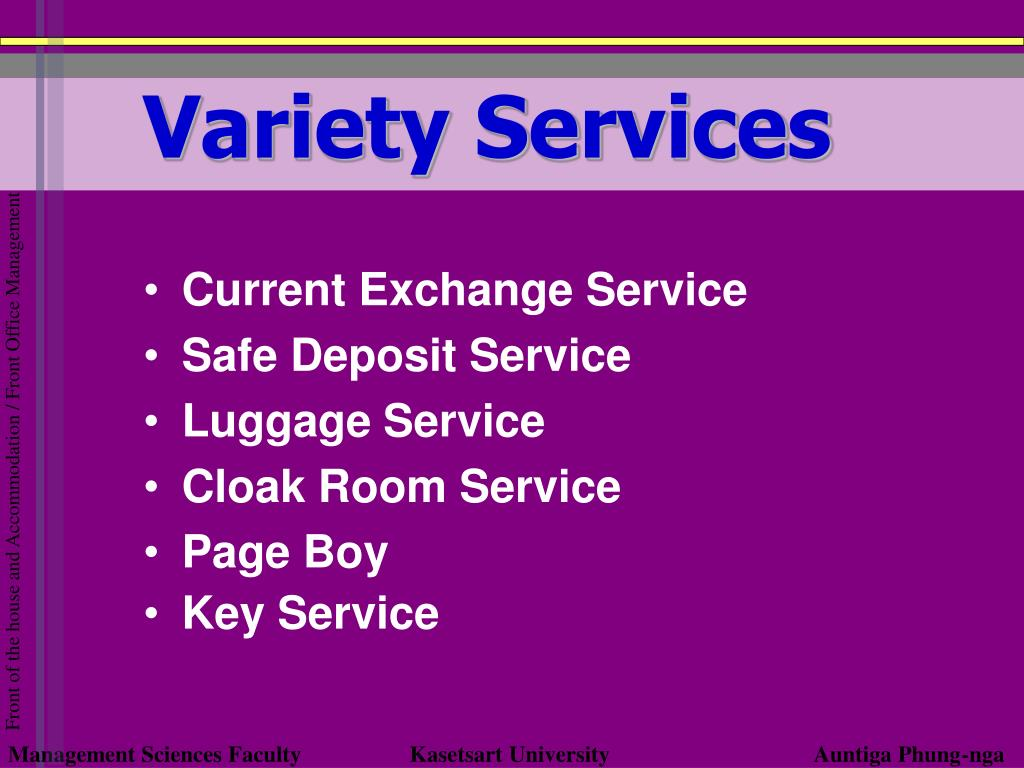 Variety Services