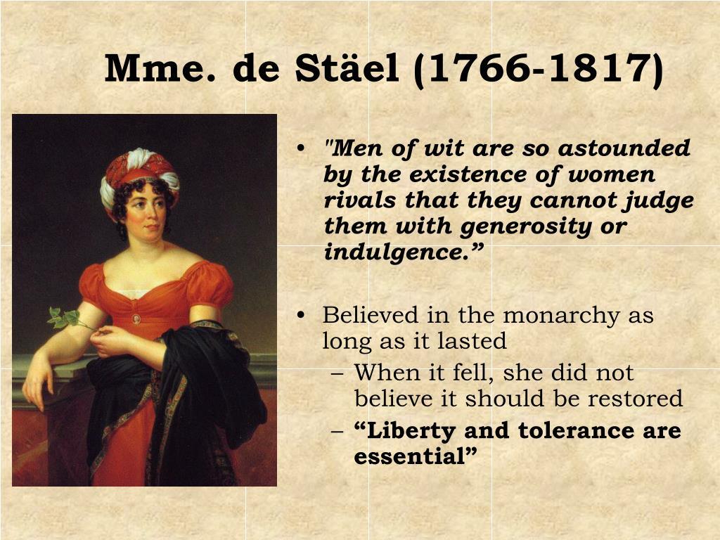 Mme. de Stäel (1766-1817)