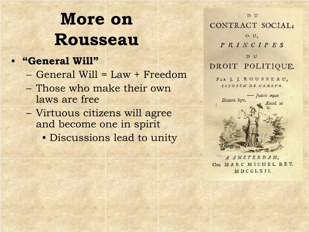 More on Rousseau