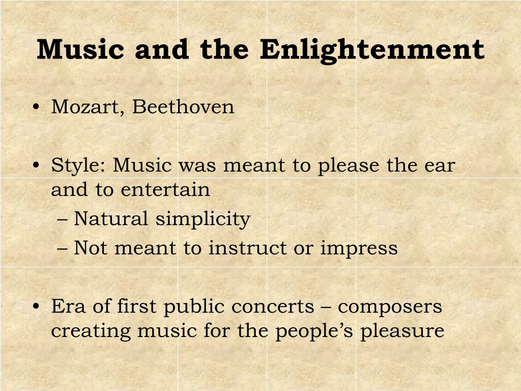 Music and the Enlightenment