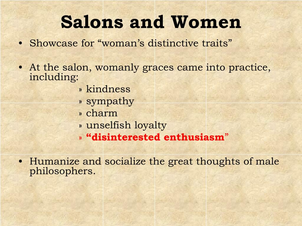 Salons and Women