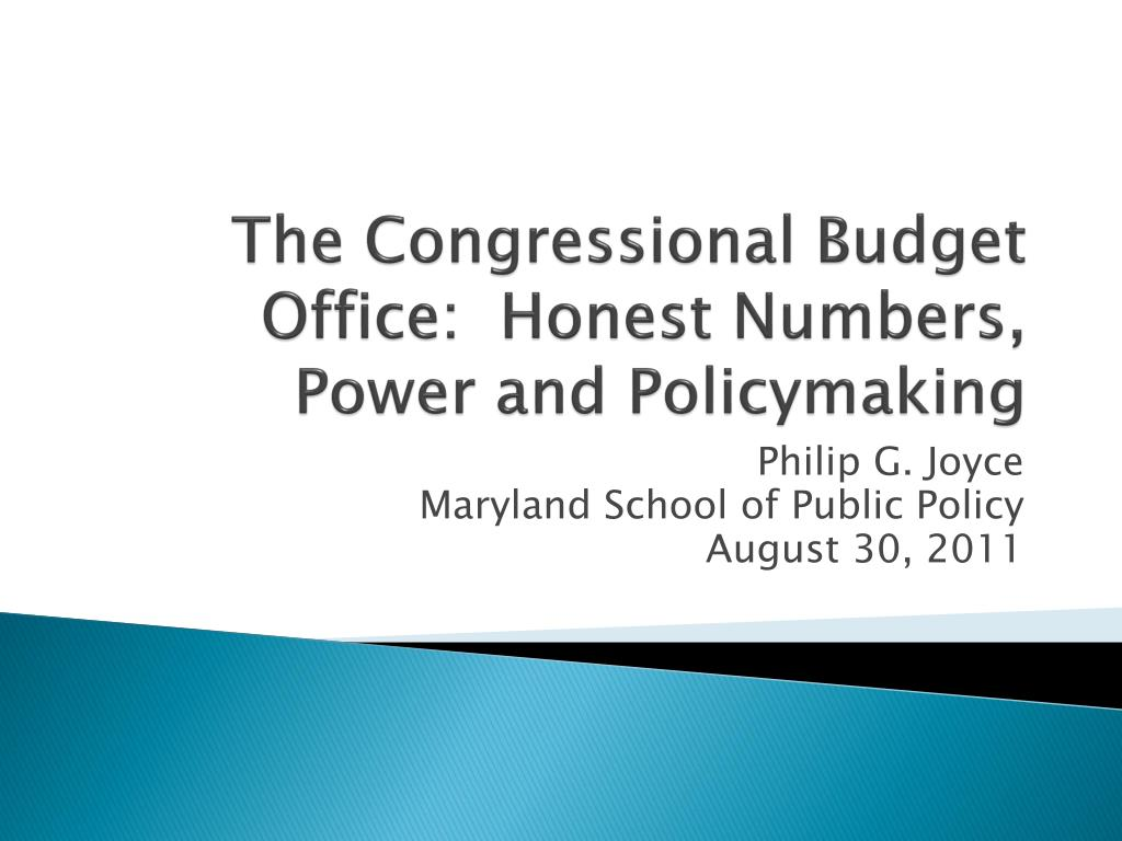 the congressional budget office honest numbers power and policymaking l.